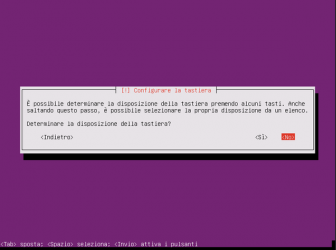 Installare Ubuntu 16.04 server - lingua tastiera