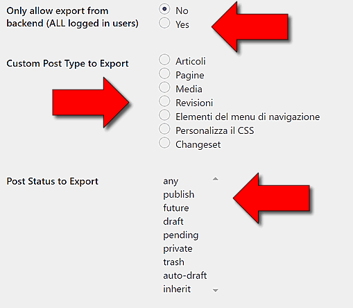 Come esportare l'elenco dei post WordPress