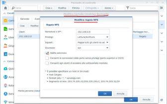 Spostare il pool di BackupPC su NAS - NAS Synology NFS