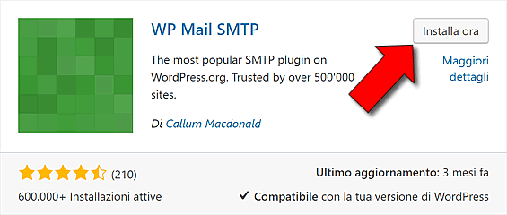 Inviare email con SMTP in WordPress