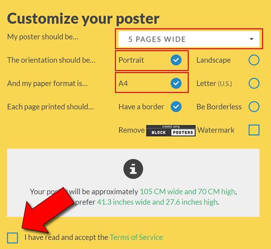 Come stampare immagini in più fogli A4 o A3