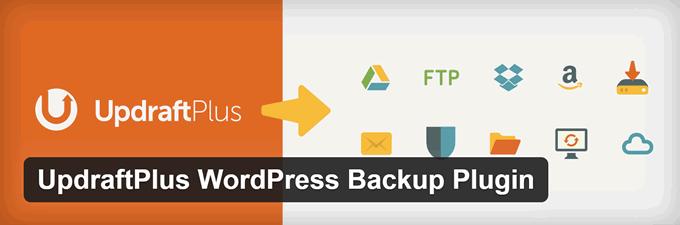 Backup WordPress updraft plus