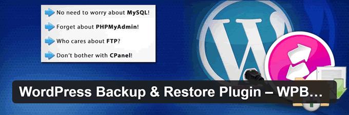 Backup WordPress e restore