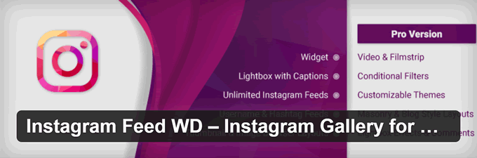 plugin Instagram per WordPress