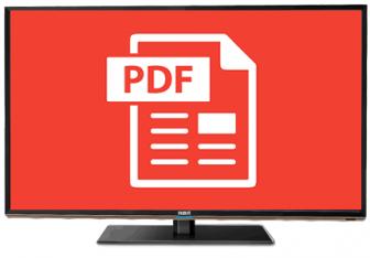 Come vedere PDF sulla TV
