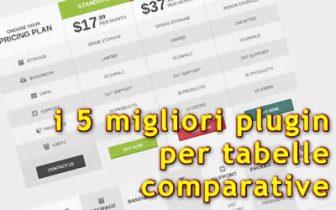 migliori plugin per tabelle di comparazione prezzi