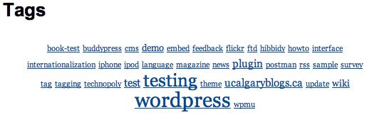Come visualizzare tutti i tag in una pagina wordpress