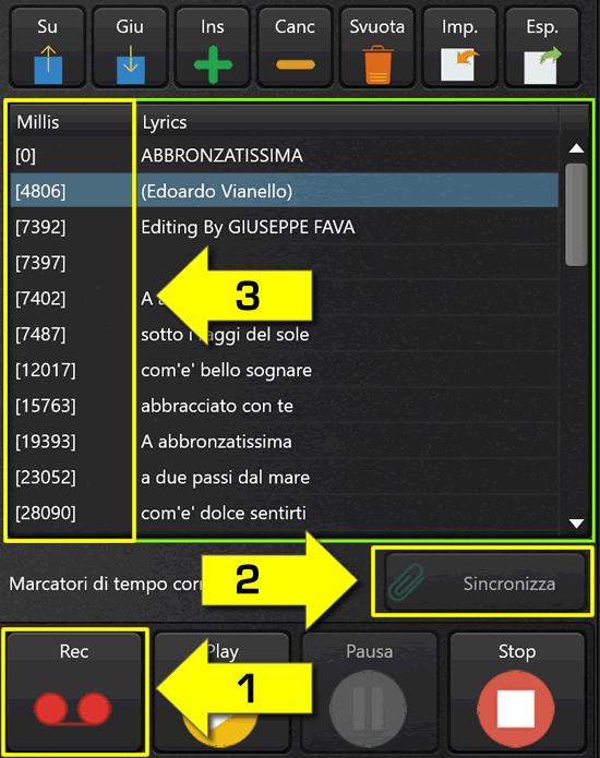 Inserire un testo in un MIDI File