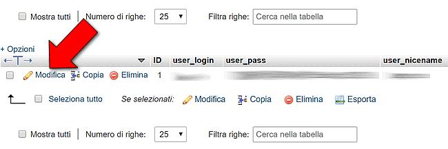 sostituire Username in WordPress