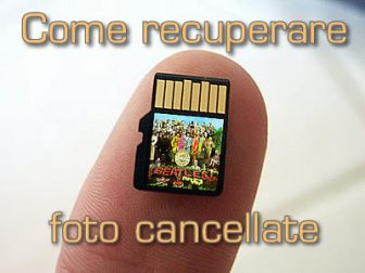 Come recuperare foto cancellate da una SD Card