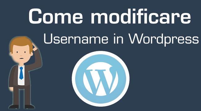 modificare username wordpress