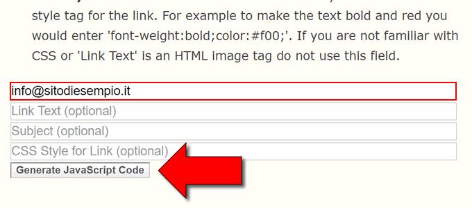 nascondere indirizzi email in wordpress