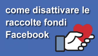 Come disattivare le raccolte fondi Facebook