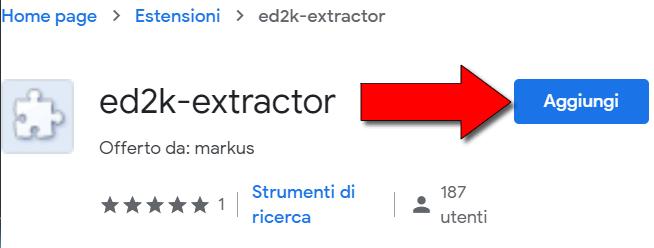 estrarre link ed2k