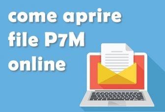 Come aprire file p7m online