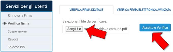 Come leggere file p7m online