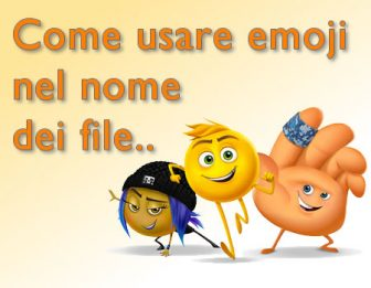 come usare emojii nel nome dei file