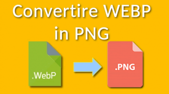 come convertire webp in png